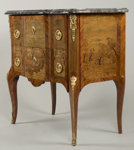 Furniture  - Small Commode Stamped Roussel