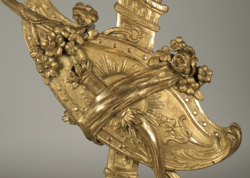 Decorative Objects  - Gilt wood trophy