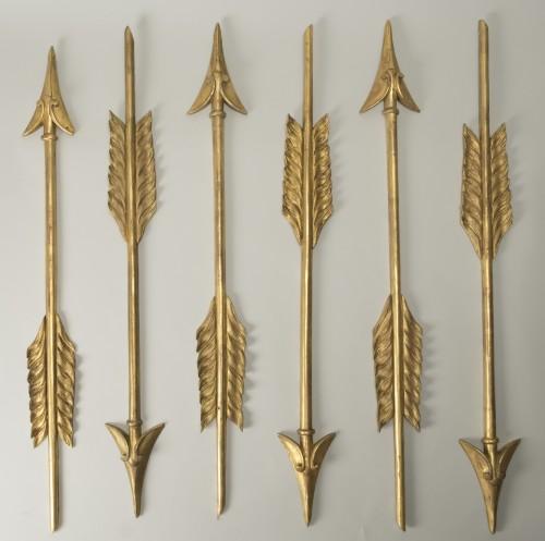 Set Of Six Gilt Wood Arrows