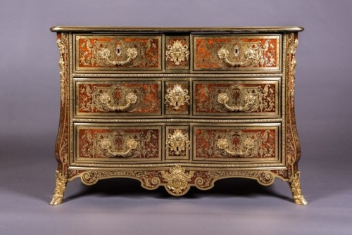 Louis XIV Boulle Marquetry commode attributed to Nicolas Sageot - Furniture Style Louis XIV