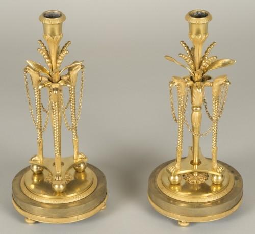 Pair of louis XVI candlesticks -