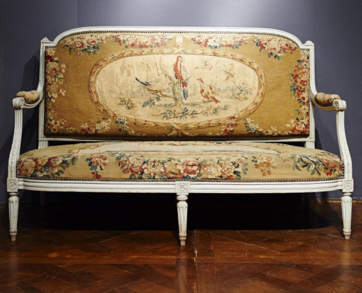 Salon Style Louis 16 louis xvi aubusson tapestry salon - ref.67454