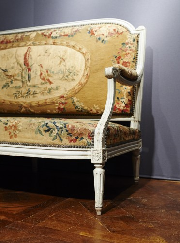 Louis XVI - Louis XVI Aubusson tapestry salon