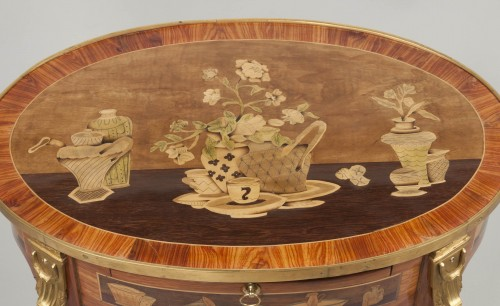 18th century -  Small table by Charles Topino
