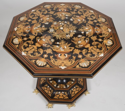 Pedestal Table Attributed to Falcini Brothers -