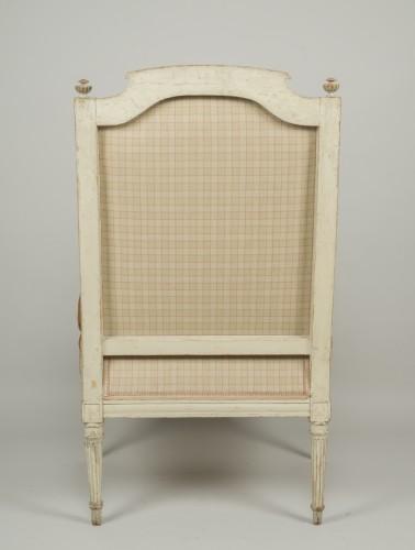 Pair of Louis XVI tapestry wingchairs stamped Lelarge - Louis XVI