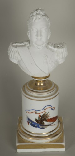 Porcelain & Faience  - Bust of Louis Philippe