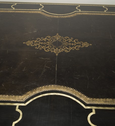 Large ebony Mazarin desk -