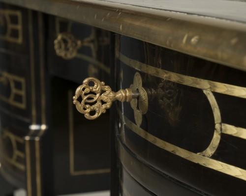 - Large ebony Mazarin desk