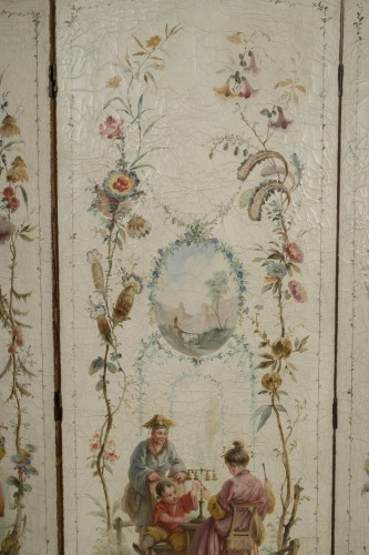18th century - Screen after Jean Pillement