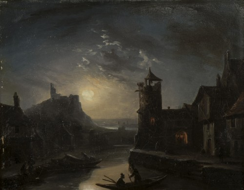 Fishermen by night - Louis-Claude Malbranche 1790-1838) - Paintings & Drawings Style