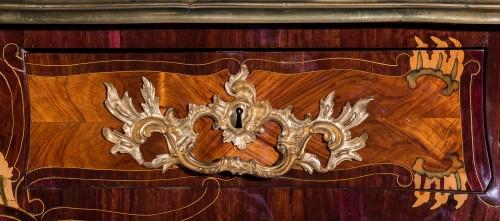 Furniture  - French Louis XV Bureau plat stamped LARDIN, et DELORME FAIZELOT