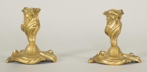 Lighting  - Pair of small Louis XV candlesticks
