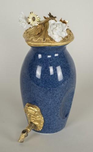 Porcelain & Faience  - Small Blue Porcelain Fountain