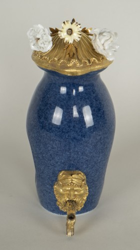 Small Blue Porcelain Fountain -