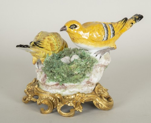 Porcelain & Faience  - Porcelain from Meissen birds at nest