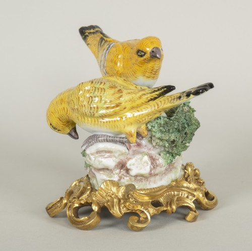 Porcelain from Meissen birds at nest -