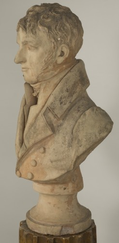 Sculpture  - Bust of an aristocrat - Jean-Baptiste Cadet de Beaupré (1758-1823)