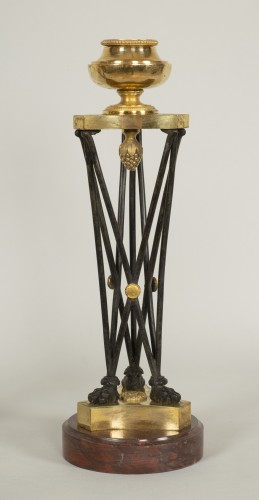 "Directoire - Pair of Directoire ""en athénienne"" candlesticks"