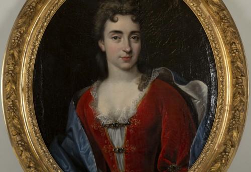 18th century - Portrait of Marie Anne Maudet - Etienne Odot Garot Dubuisson (1652, 1732)
