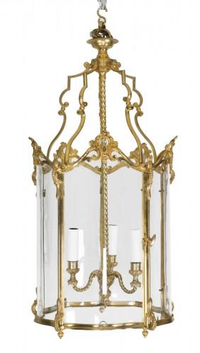 Gilded bronze lantern