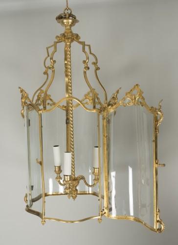 19th century - Gilded bronze lantern