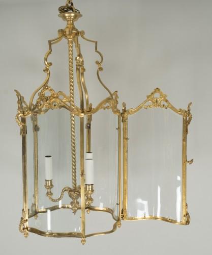Antiquités - Gilded bronze lantern