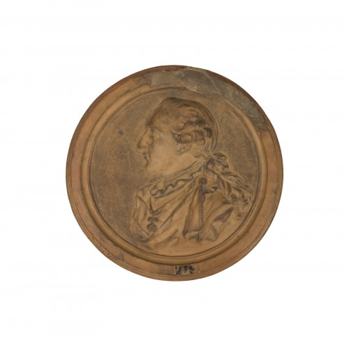 Medallion Depicting a Portrait Of Louis XVI To The Golden Fleece