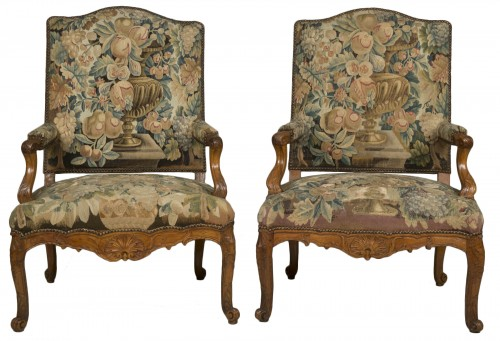 Pair of Régence armchairs