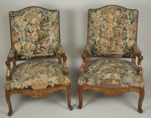 Pair of Régence armchairs - Seating Style French Regence