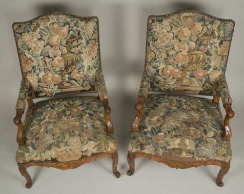 Seating  - Pair of Régence armchairs
