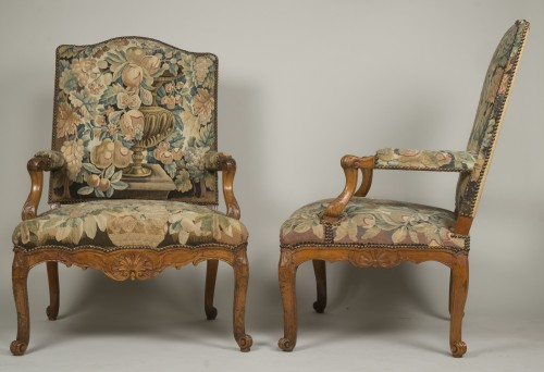 Pair of Régence armchairs -