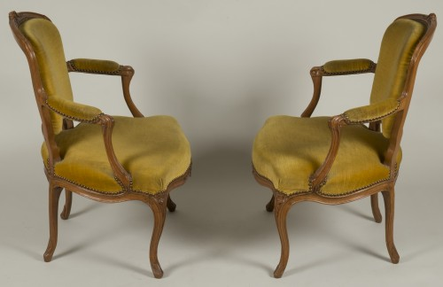Pair of Louis XV armchairs -