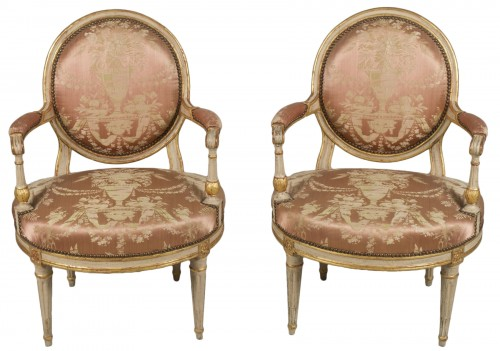 Pair Of Louis XV Armchairs by Delaunay