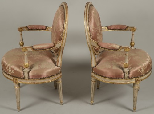 Seating  - Pair Of Louis XV Armchairs by Delaunay