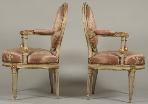 Pair Of Louis XV Armchairs by Delaunay -