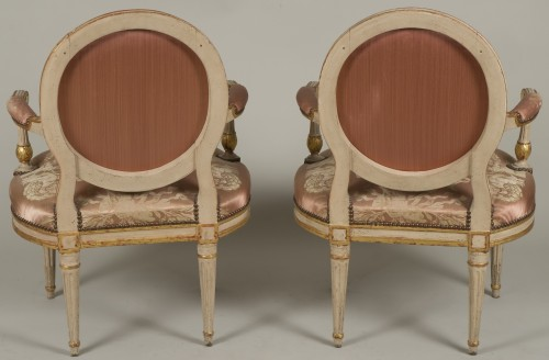 18th century - Pair Of Louis XV Armchairs by Delaunay