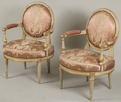 Pair Of Louis XV Armchairs by Delaunay - Louis XVI