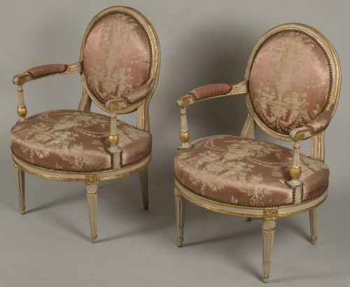 Louis XVI - Pair Of Louis XV Armchairs by Delaunay