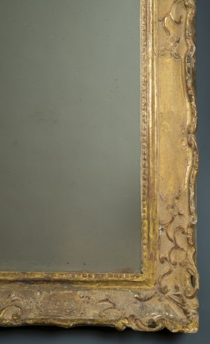 Gilt wood mirror, first half of the 18th century - Mirrors, Trumeau Style