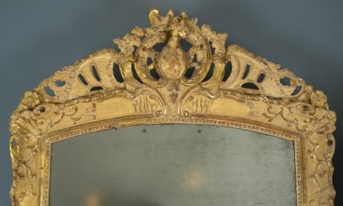 Mirrors, Trumeau  - Gilt wood mirror, first half of the 18th century