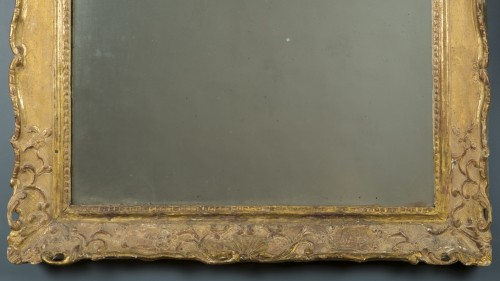 Gilt wood mirror, first half of the 18th century -
