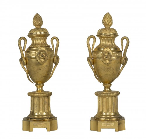 Pair of Louis XVI urn cassolettes