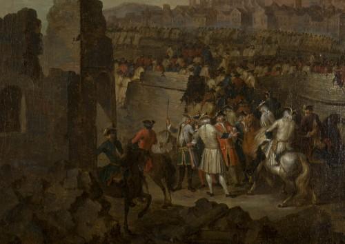Paintings & Drawings  - Siege and storming of Bergen op Zoom pair of oil on canvas by J. Bernaert