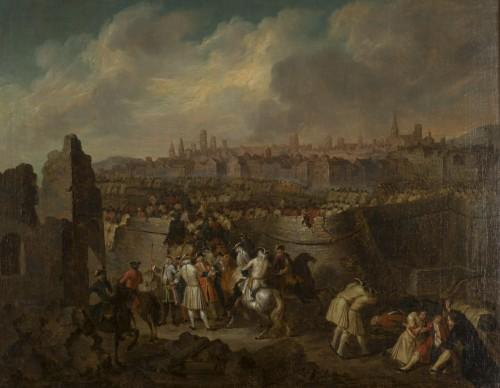 - Siege and storming of Bergen op Zoom pair of oil on canvas by J. Bernaert