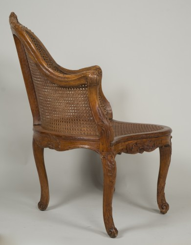 18th century - Louis XV chair attributed to E. Meunier