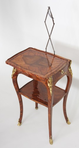 Table with screen stamped Migeon - Furniture Style Louis XV