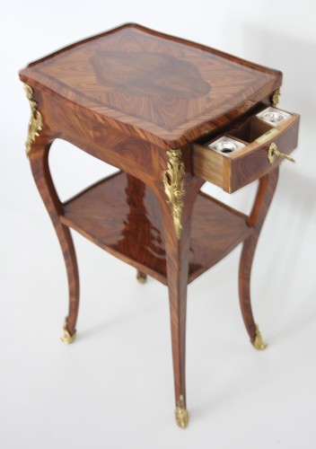 Louis XV - Table with screen stamped Migeon