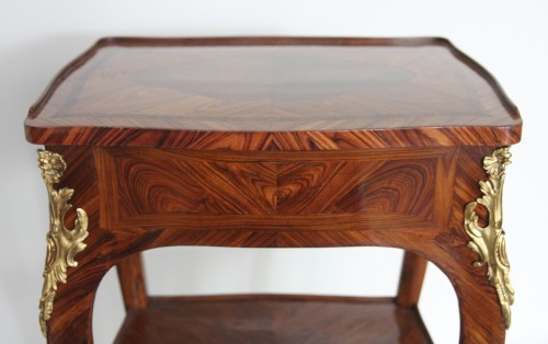 Antiquités - Table with screen stamped Migeon
