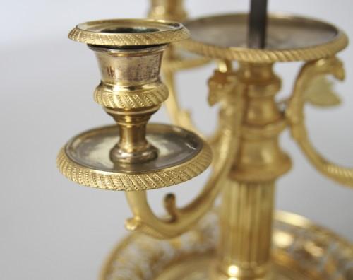 "A late 18th century ""Bouillotte"" lamp  -"